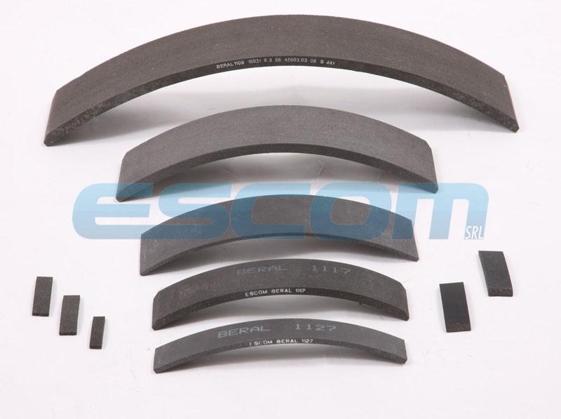 Drum Brake Lining : Brake linings in flexible beral friction material escom